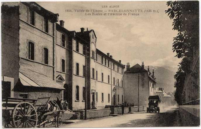 L'Ecole de Barcelonnette en 1856